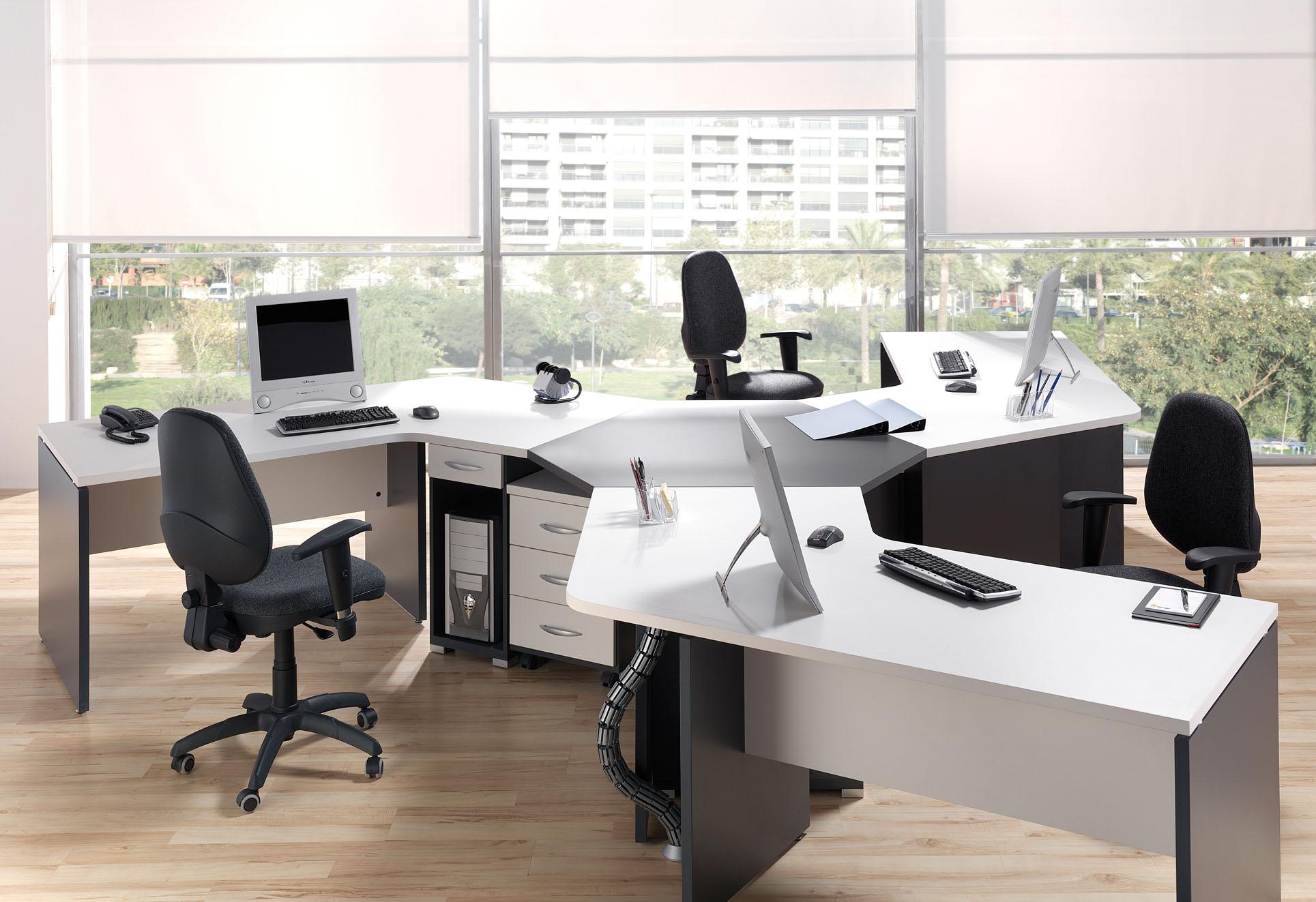 Mudanzas de oficinas for Muebles de oficina puestos de trabajo